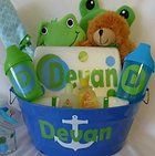 Baby Shower Personalized Bath Set