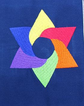 Rainbow Star Siddur Cover