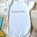 Bubbeleh Onesie