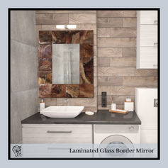 Laminated Glass Border Rectangular Mirror