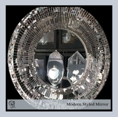 Round Mirror with large size Mosaic as border