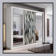 Black & White Themed Wardrobe Panel