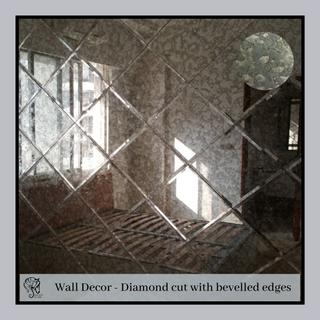 Wall Decor - Diamond cut with bevelled edges