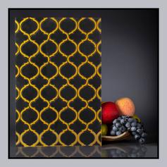 Back Painted - Random Pattern