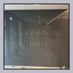Office Entrance - Back painted with logo etched - Jumbo size