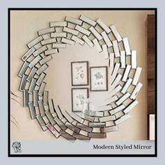 Fancy Design Round Mirror