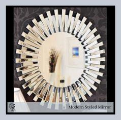 Modern Styled Round Mirror