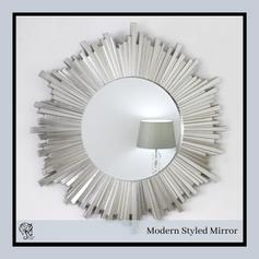 Mirror Strip border Round Mirror