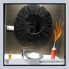 Antique Mirror border Round Mirror