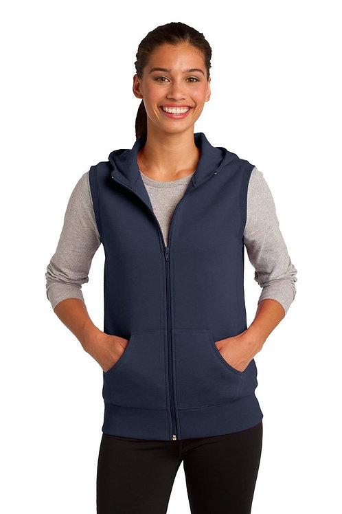 Ladies Sport-Tek Hooded Fleece Vest