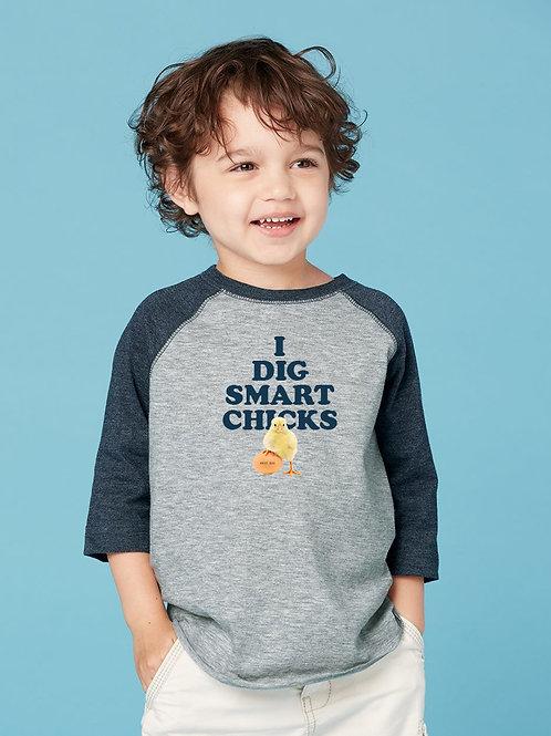 Toddler Fine Jersey Three-Quarter Sleeve Baseball T-Shirt by Rabbit Skins