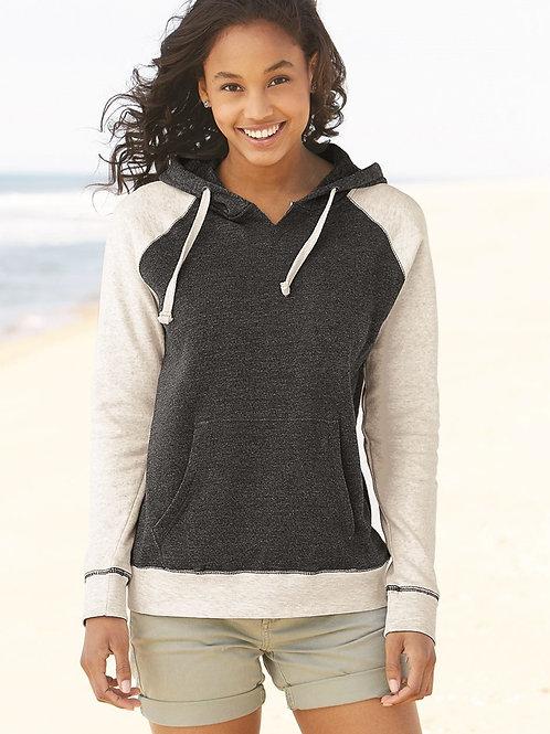 Ladies' MV Sport Reese Raglan Hooded Pullover Sweatshirt