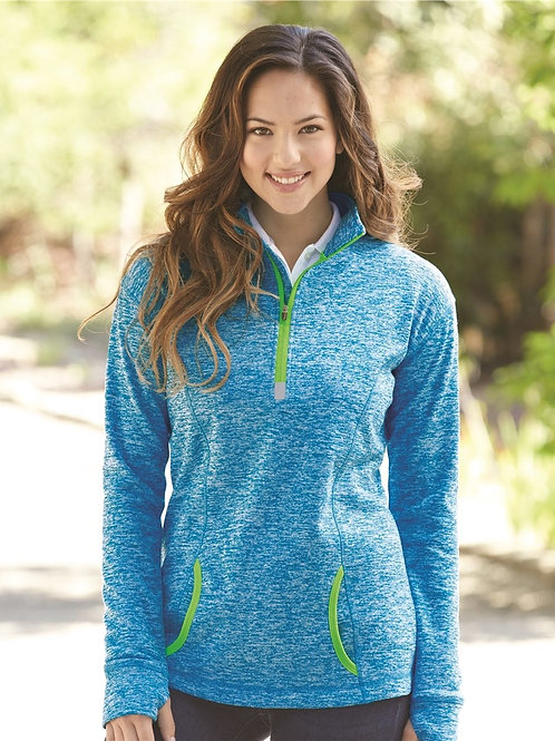 Ladies' J. America Cosmic Fleece Quarter Zip Pullover