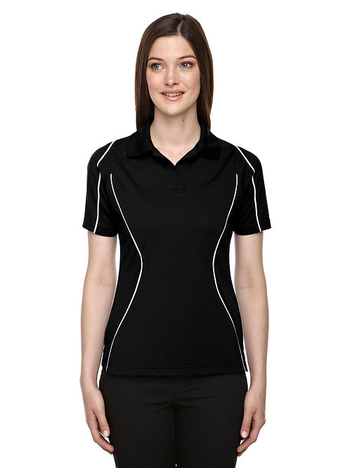 Velocity Ladies' Snag Protection Color-Block Polo With Piping- Ash  City Extreme