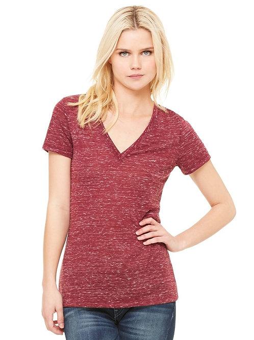 Bella+Canvas Deep V-Neck Jersey T-Shirt