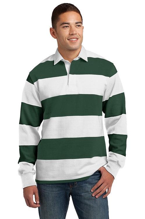 Mens Sport-Tek Long Sleeve Rugby Polo Shirt
