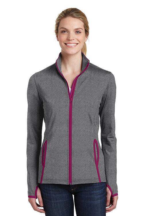 Sport-Tek LST853 - Ladies Sport-Wick Stretch Contrast Full-Zip Jacket