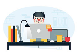 vector-designer-work-station-illustratio