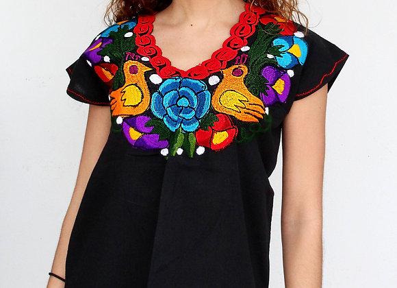 "Blusa artesanal mexicana ""Cha'kal"""