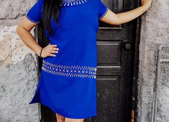 Vestido mexicano - Bordado Nahua