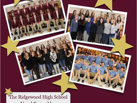 Concert: The Ridgewood High School  Vocal Ensembles