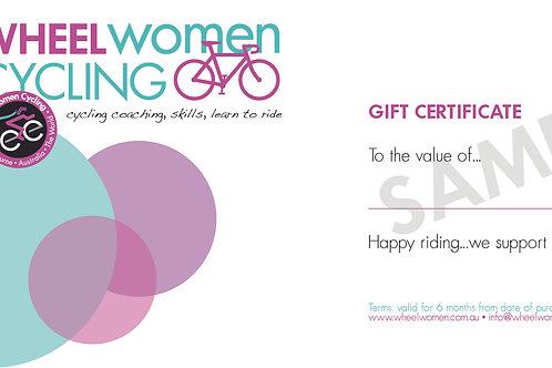 Wheel  Women Gift Certificate