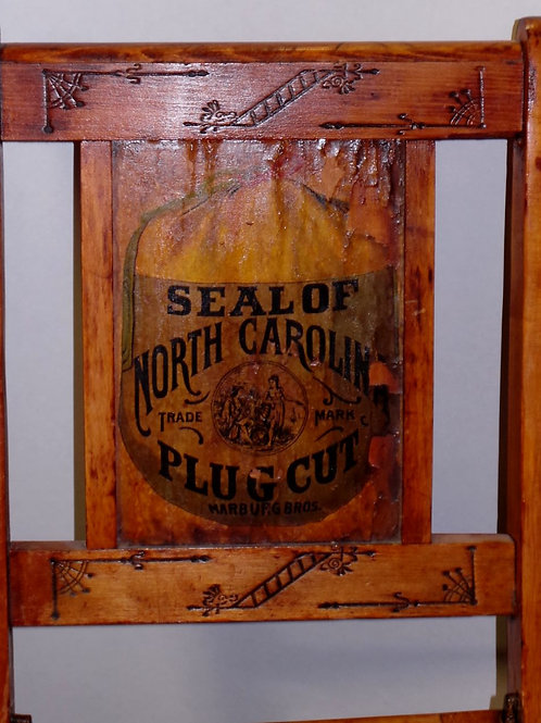 Seal Of North Carolina Plug Cut Advertising Chair