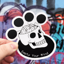 Empty Your Mind Sticker