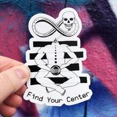 Find Your Center Sticker