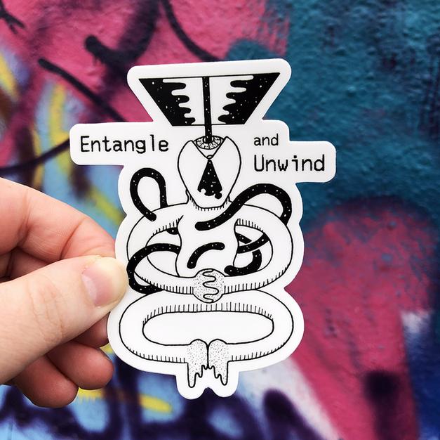 Entangle and Unwind Sticker