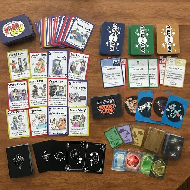 Multi-Game Card Spread