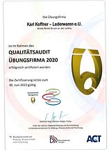 Urkunde_QualitätsAudit_2020_Karl_Koffne