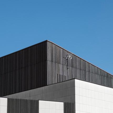 Photo architecture minimaliste à Lyon 7, Florian Peallat, école primaire réalisée par les architectes damien carreres