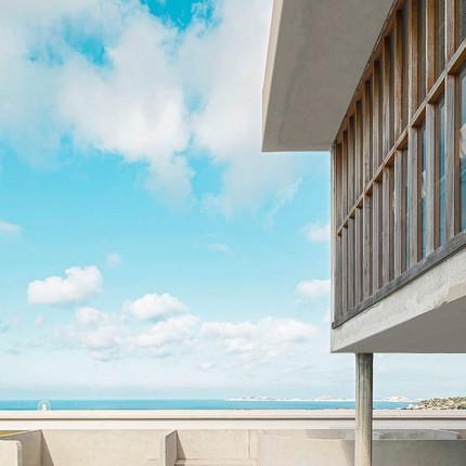 Photographe professionnel spécialisé en architecture, Florian Peallat, solarium Le Corbusier