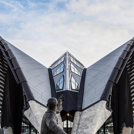 Photo architecture Rhône-Alpes, Florian Peallat, aéroport de St Exupéry à Lyon