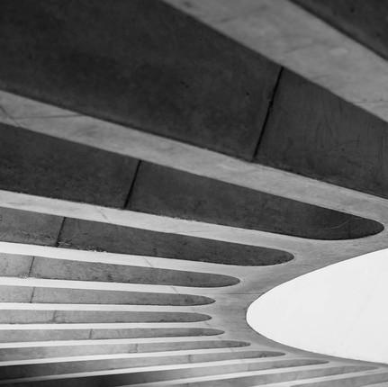 Photographe architecture minimaliste et brutaliste à Lyon, Florian Peallat, musée gallo romain de Lyon.