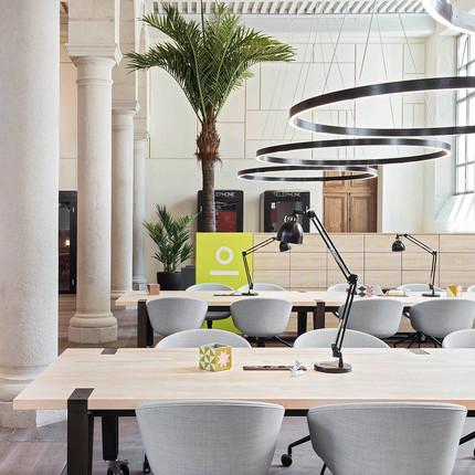 Bureaux de la société Nextdoor à Lyon, espace de coworking.