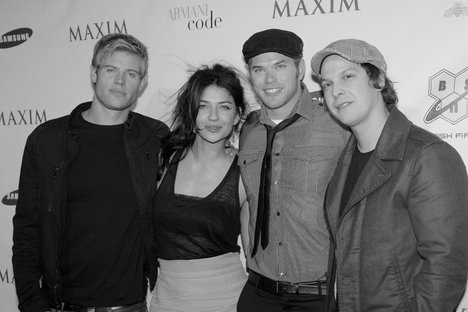 Trevor Donovan, Jessica Szohr, Kellan Lutz, and Gavin DeGraw for Super Bowl party