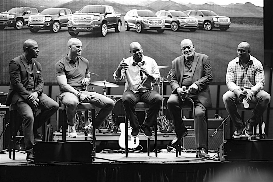 General Motors - Marshall Faulk, Jason Taylor, Emmitt Smith, Jim Brown, and Terrell Davis
