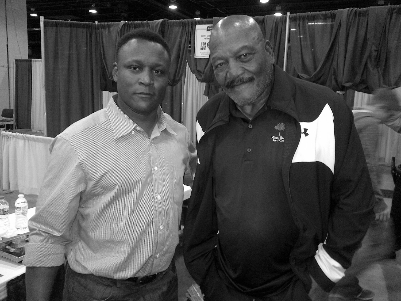 Barry Sanders and Jim Brown