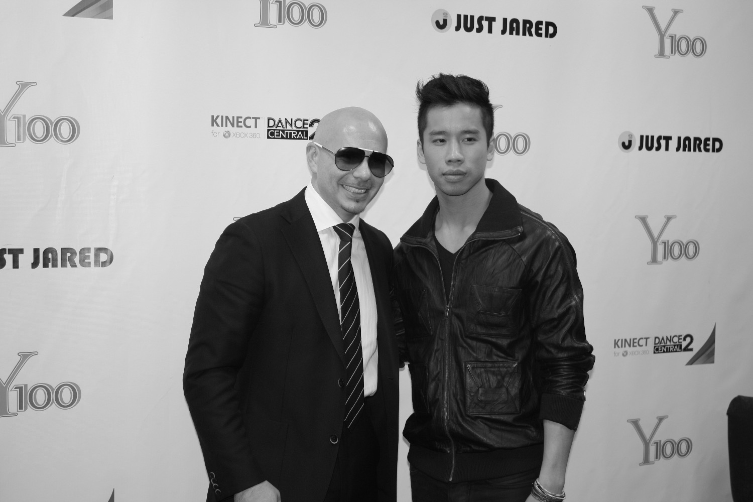 Just Jared and Pitbull for JustJared.com and Y100