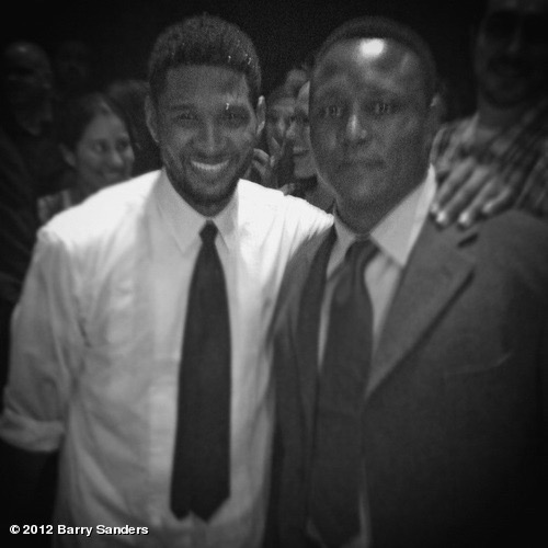 Barry Sanders and Usher