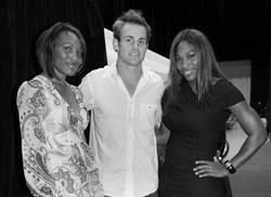 Venus Williams, Andy Roddick, and Serena Williams