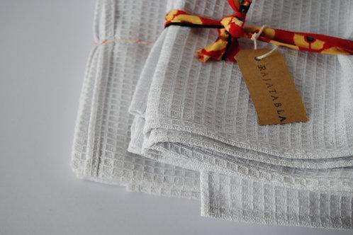 Pack 2 Repasadores blancos 100% algodón