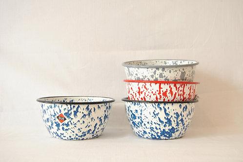 Bowl ensaladera moteado color azul, rojo o gris