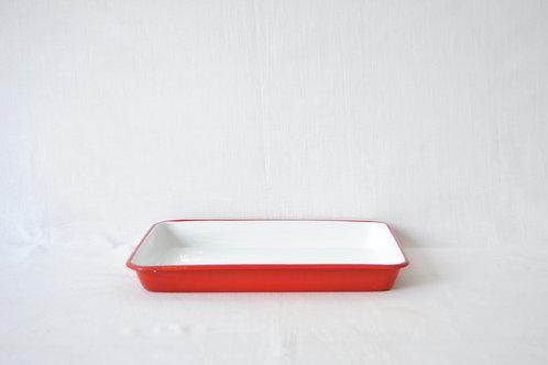 Bandeja roja interior blanco