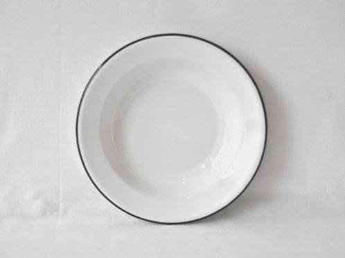 Plato hondo borde negro 22 cm