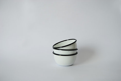 Bowl mini blanco borde negro