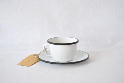 Taza de desayuno con plato