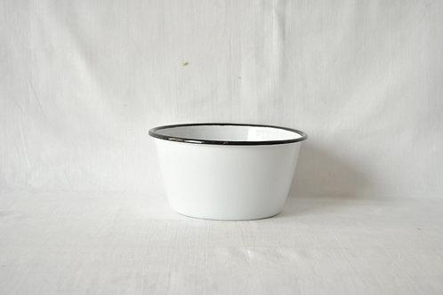 Bowl recto borde negro tipo ensaladera